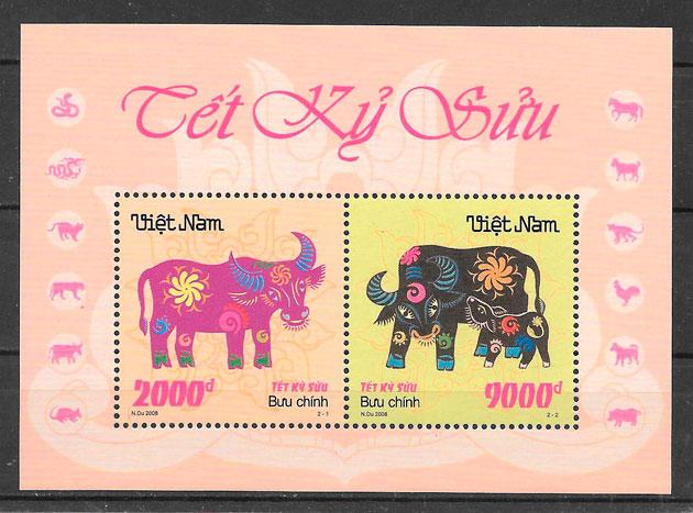 filatelia año lunar Viet Nam 2008