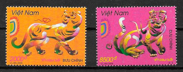 filatelia coleccion Viet Nam 2009