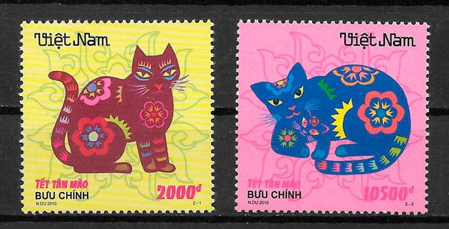 filatelia año lunar Viet Nam 2010