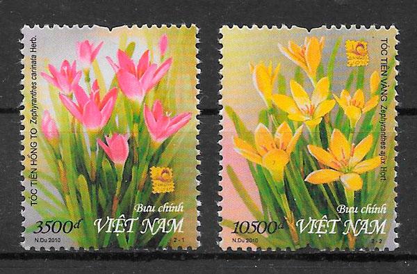 sellos flora Viet Nam 2010