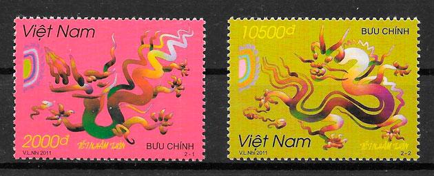 coleccion sellos año lunar Viet Nam