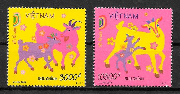 sellos año lunar Viet Nam 2014