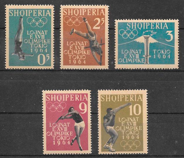 sellos olimpiadas Albania 1962