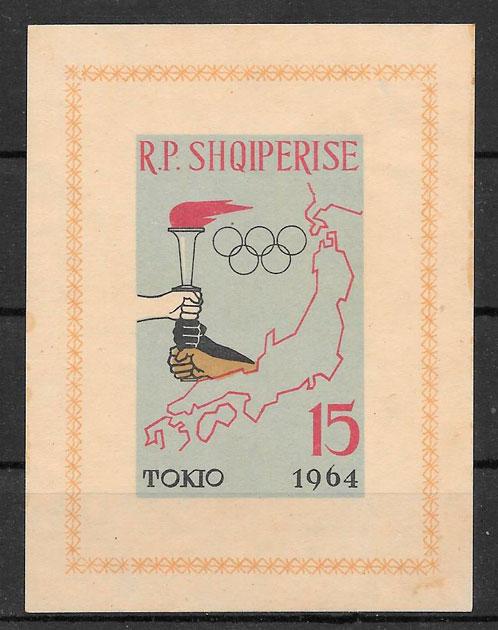 sellos olimpiadas Albania 1963