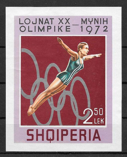 filatelia olimpiadas Albania 1972