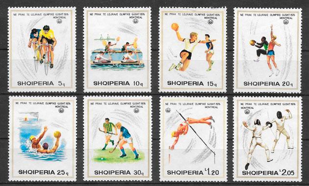 colección sellos olimpiadas ALBANIA 1975
