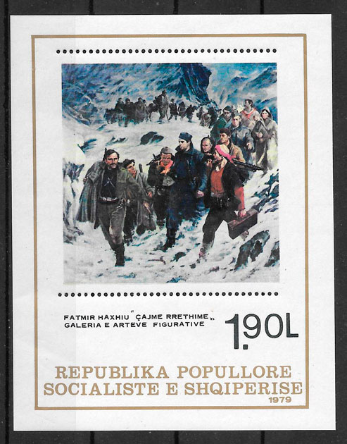 filatlia colección pintura Albania 1979