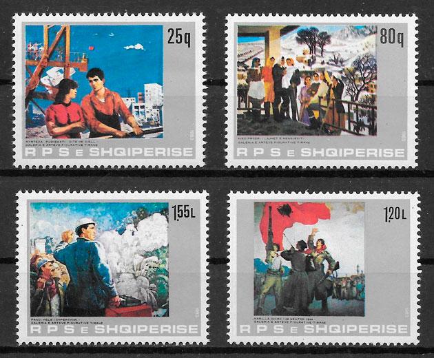 sellos arte Albania 1983