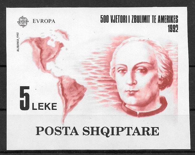 sellos Europa Albania 1992