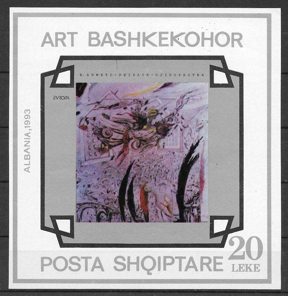 sellos Europa Albania 1993