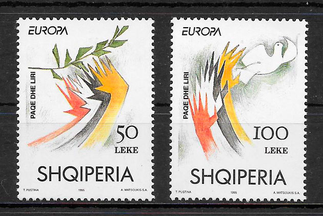 sellos Europa Albania 1995