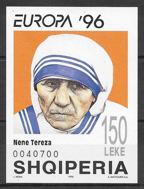 sellos Europa Albania 1996