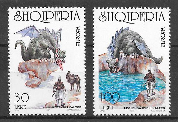filatelia Europa Albania 1997