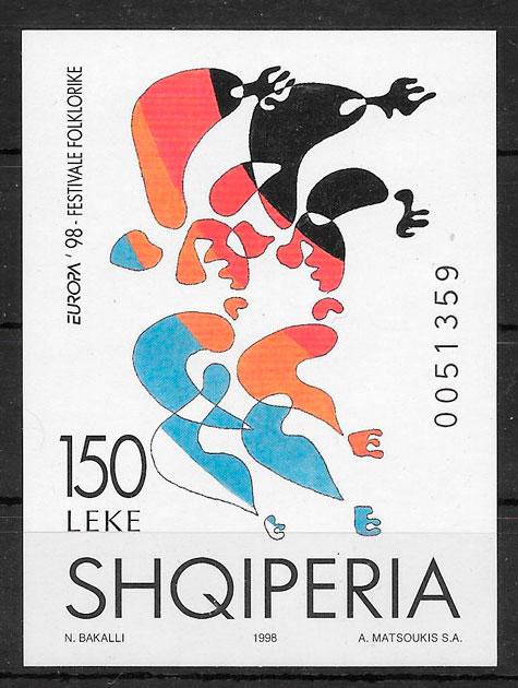 sellos Europa Albania 1998