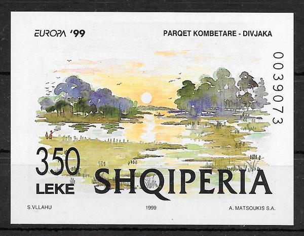 sellos Europa Albania 1999
