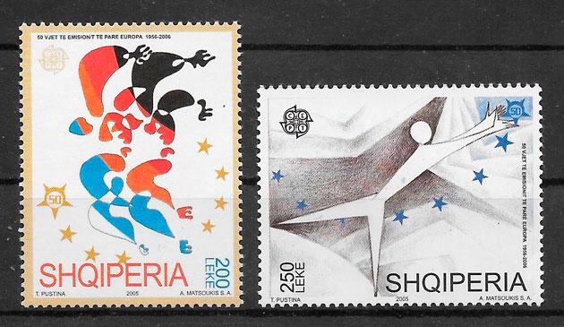 colección de sellos Europa Albania 2005