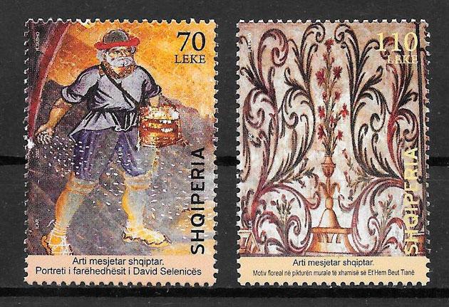 sellos pinturas Albania 2007