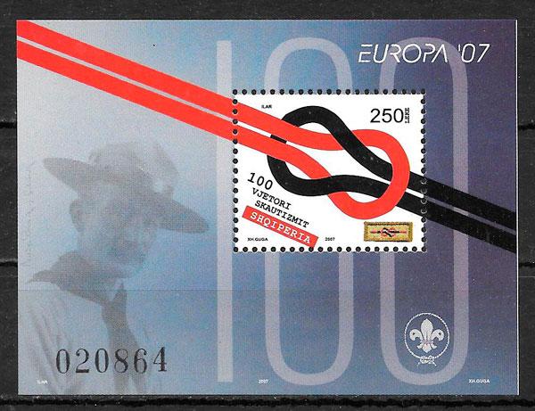 filatelia colección Europa Albania 2007