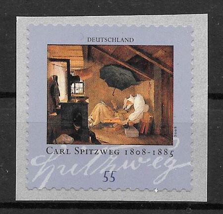 filatelia colección pintura Alemania 2008