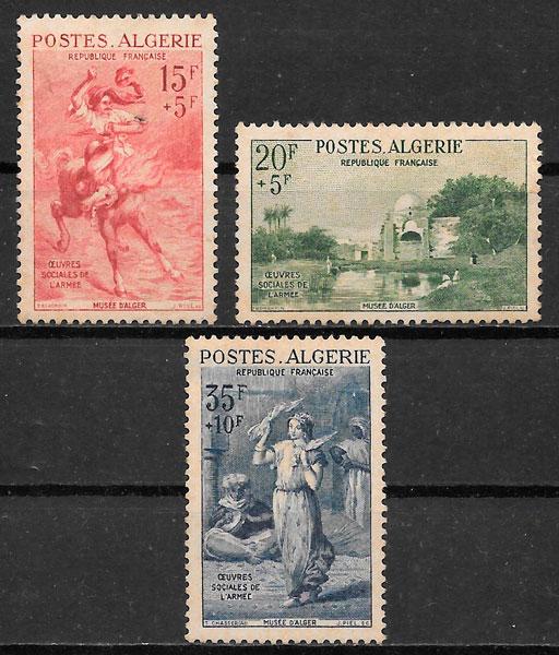 selos pintura Argelia 1957