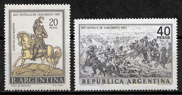 sellos pintura Argentina 1967