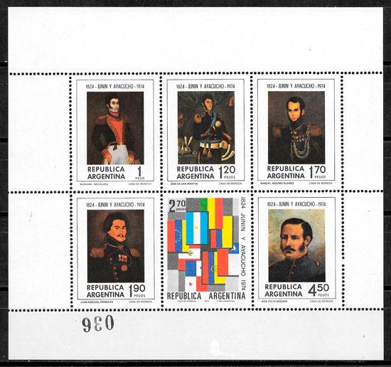 sellos pintura Argentina 1974