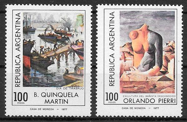 sellos pintura Argentina 1978