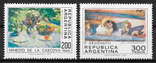 filatelia colección pintura Argentina 1979