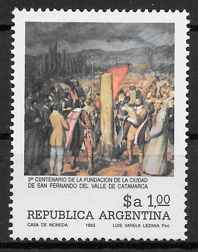 filatelia colección pintura argentina 1983