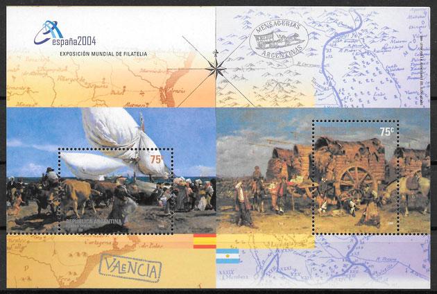 colección sellos pinturas Argentina 2004
