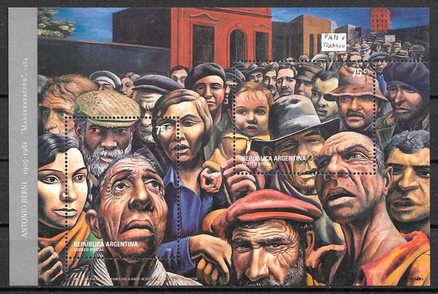 sellos pintura Argentina 2005