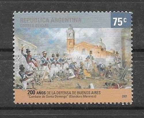 filatelia pintura Argentina 2007