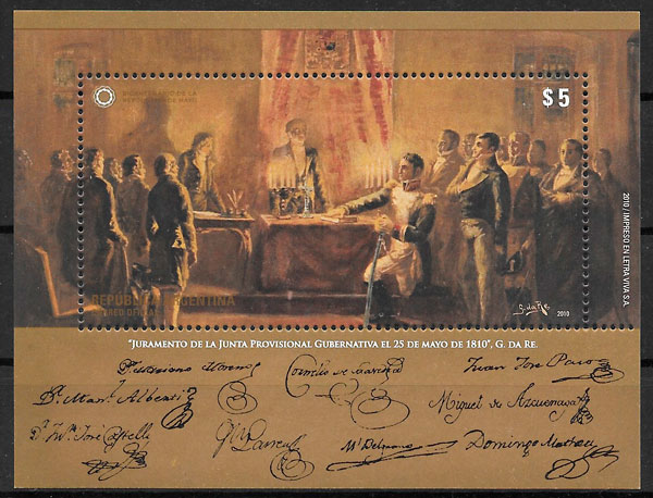 selos pintura Argentina 2010