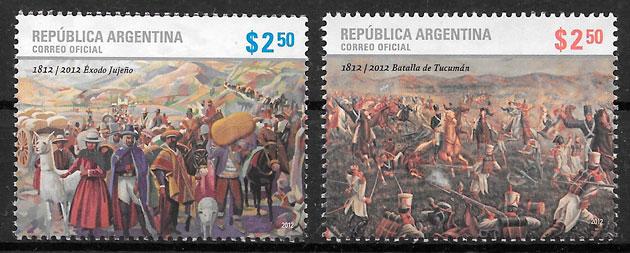 filatelia colección pintura Argentina 2012