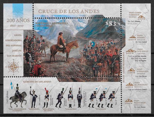 colección sellos pintura Argentina 2017