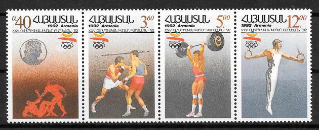 sellos olimpiadas Armenia 1992