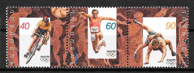 filatelia olimpiadas Armenia 1996