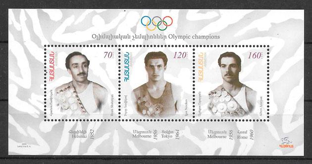 filatelia olimpiadas Armenia 2009