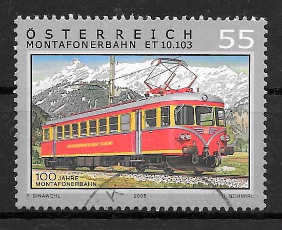 sellos trenes 2005 Austria