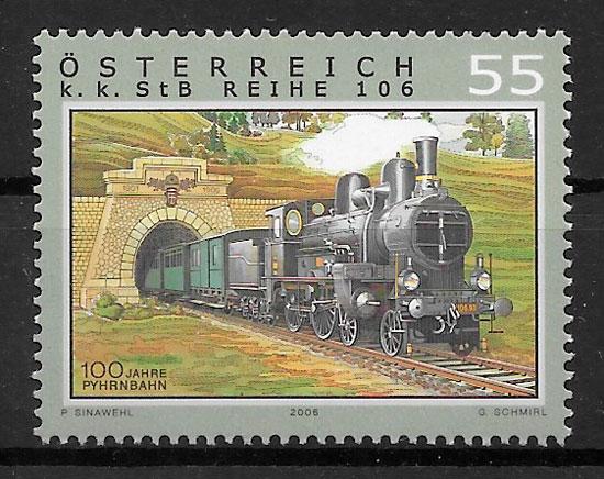 filatelia trenes Austria 2006