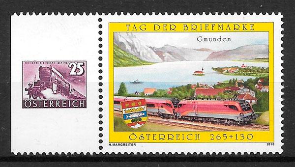 filatelia trenes 2010 Austria