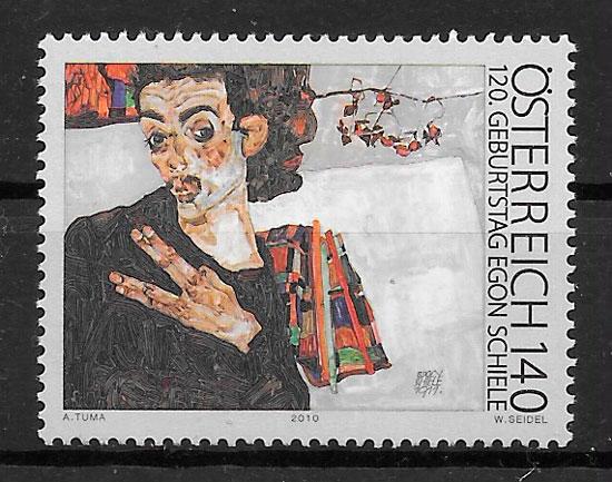 sellos pintura Austria 2010