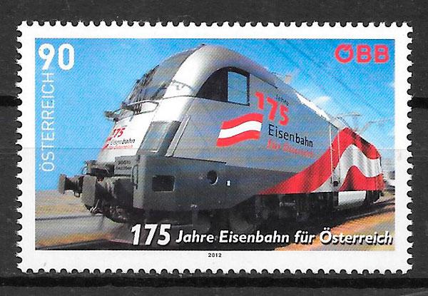 filatelia trenes Austria 2012
