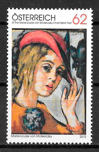 colección sellos pintura Austria 2012