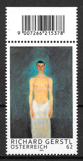colecciñon sellos pintura Austria 2013