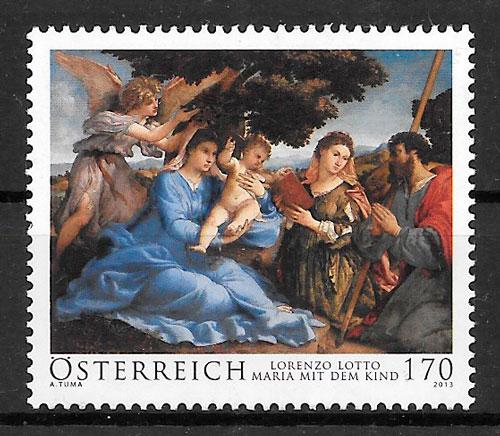 coleccióin selos pintura Austria 2013