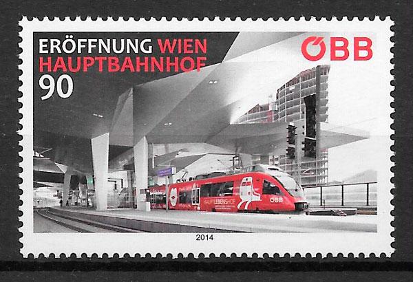 sellos trenes Austria 2014