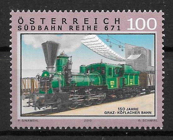 sellos trenes 2010 Austria