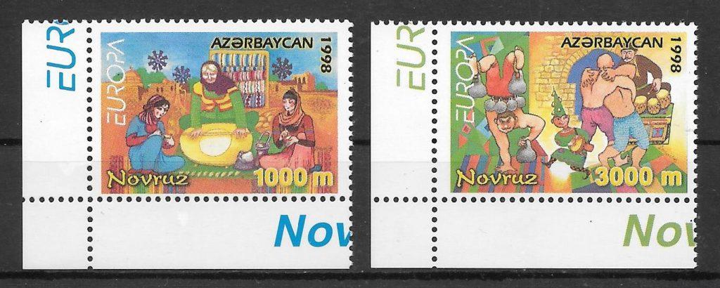sellos Europa Azerbaiyan 1998