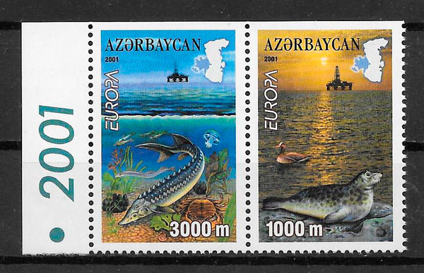sellos Europa Azerbaiyan 2001